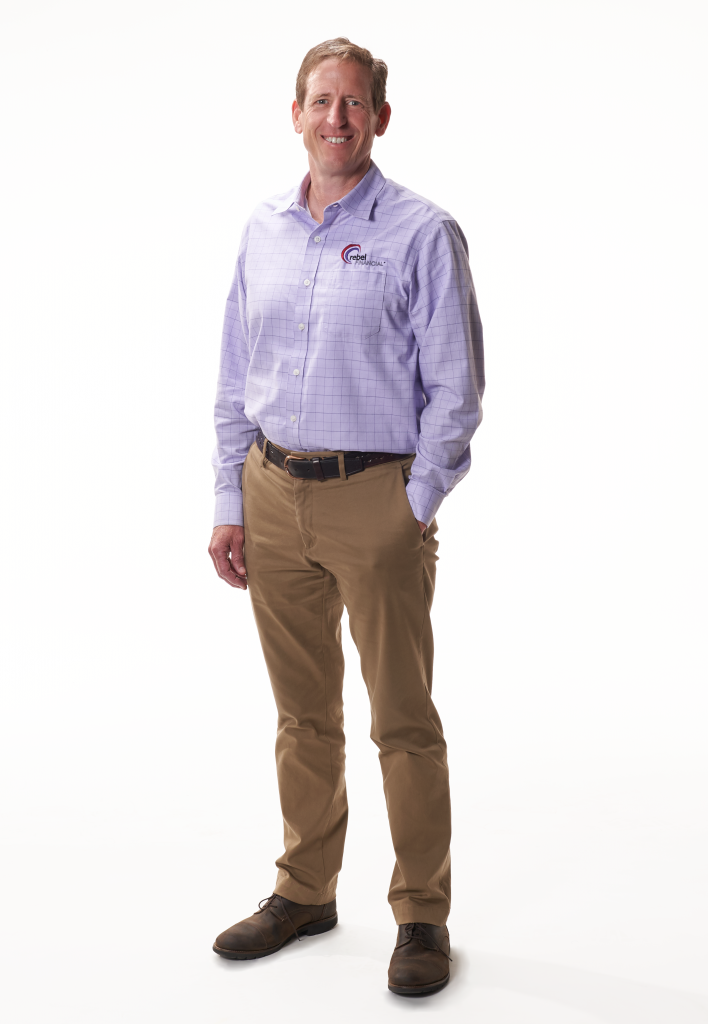 tony jones for rebel financial standing and smiling